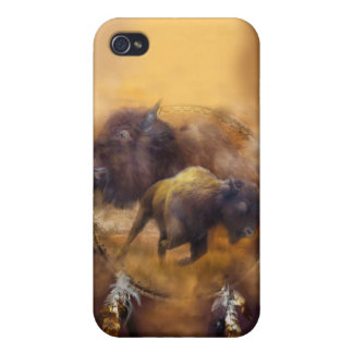 Spirit Of The Brown Buffalo Art Case for iPhone 4