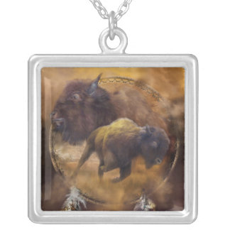 Spirit Of The Brown Buffalo Wearable Art Necklace