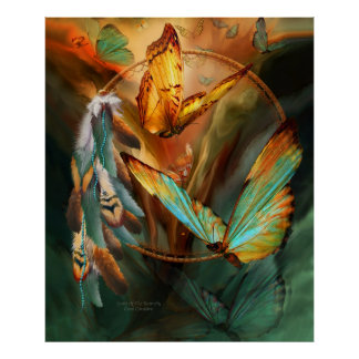 Spirit Of The Butterfly Art Poster/Print