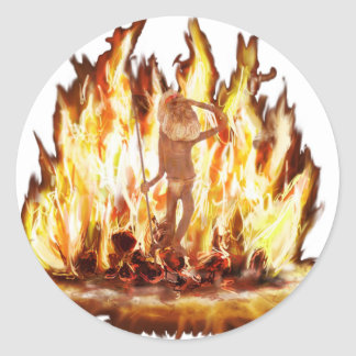 Spirit of the Campfire Classic Round Sticker