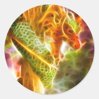 Spirit of the Dragon Classic Round Sticker