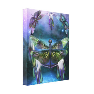 Spirit Of The Dragonfly  Stretched Canvas Print
