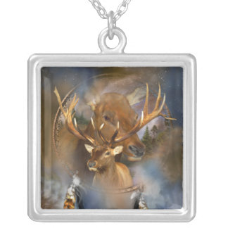 Spirit Of The Elk Wearable Art Necklace