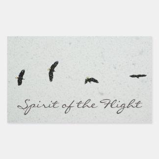 Spirit of the Flight Rectangular Sticker