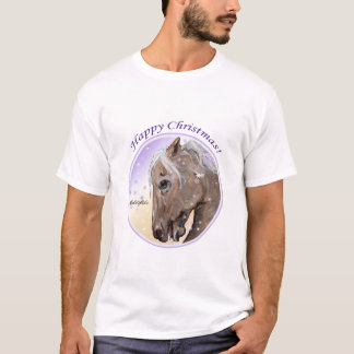 Spirit of the Mustang Christmas Adult T-shirt