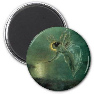 Spirit of the Night by Grimshaw, Victorian Fairy 2 Inch Round Magnet