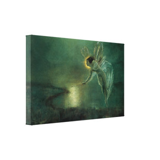 Spirit of the Night by Grimshaw Victorian Fairy Stretched Canvas Print