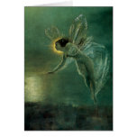 Spirit of the Night by Grimshaw, Victorian Fairy Greeting Card