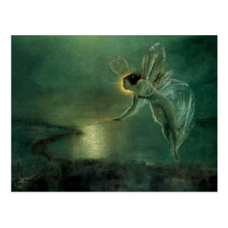Spirit of the Night by Grimshaw, Victorian Fairy Post Card
