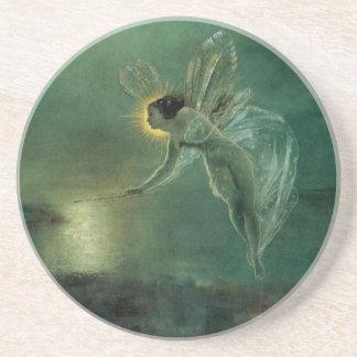 Spirit of the Night by Grimshaw, Victorian Fairy Sandstone Coaster