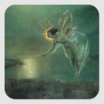 Spirit of the Night by Grimshaw, Victorian Fairy Square Sticker