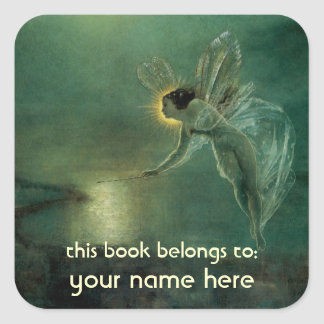 Spirit of the Night Fairy Bookplate Square Sticker