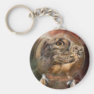 Spirit Of The Owl Art Keychain