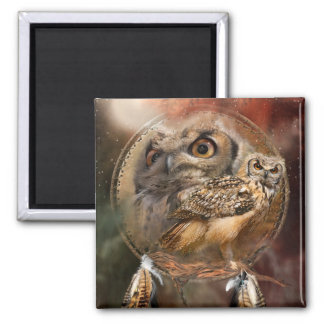 Spirit Of The Owl Art Magnet