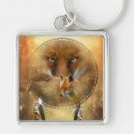Spirit Of The Red Fox Art Keychain