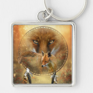 Spirit Of The Red Fox Art Keychain