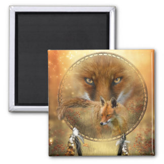 Spirit Of The Red Fox Art Magnet