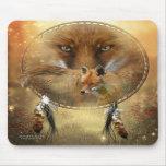 Spirit Of The Red Fox Art Mousepad