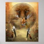 Spirit Of The Red Fox Art Poster/Print Poster