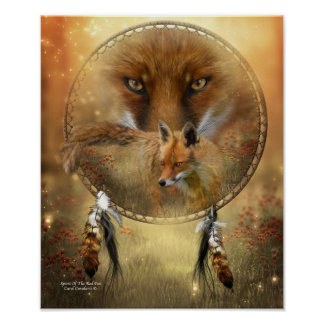 Spirit Of The Red Fox Art Poster/Print Poster