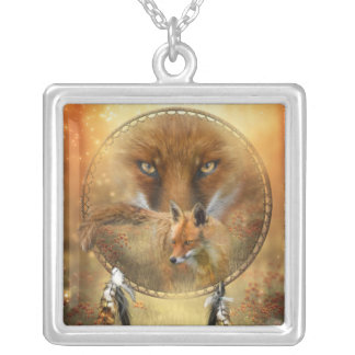 Spirit Of The Red Fox Wearable Art Necklace