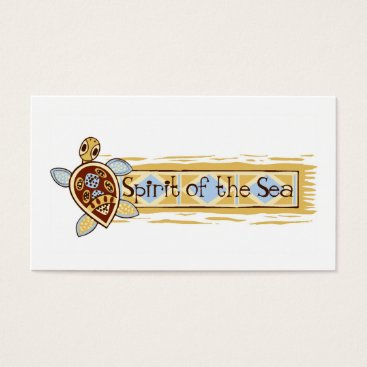Beach Themed Spirit of the Sea | Cute Fun Sea Turtle Logo Business Card