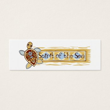 Beach Themed Spirit of the Sea | Cute Fun Sea Turtle Logo Mini Business Card