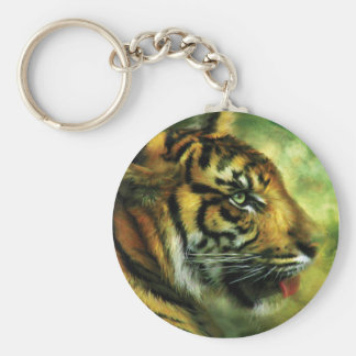 Spirit Of The Tiger Art Keychain