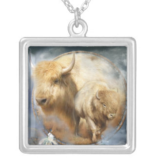Spirit Of The White Buffalo Wearable Art Necklace
