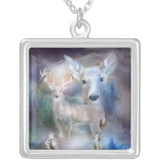 Spirit Of The White Deer Wearable Art Necklace