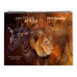 Spirit Of The Wild - AFRICA Art Calendar 2013