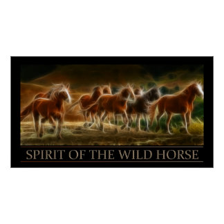 Spirit of the Wild Horse Poster