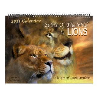 Spirit Of The Wild Lions 2011 Calendar
