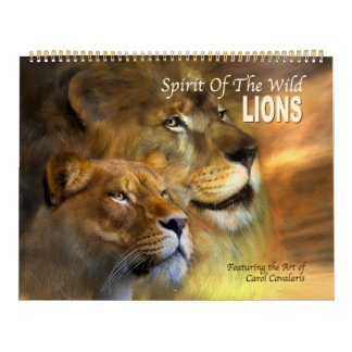 Spirit Of The Wild - Lions Art Calendar