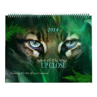 Spirit Of The Wild UP CLOSE Art Calendar 2014