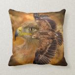 Spirit Of The Wind Eagle Art Designer Pillow