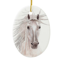 Spirit of the Wind Horse -vintage- Ceramic Ornament