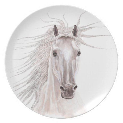 Spirit of the Wind Horse -vintage- Dinner Plate