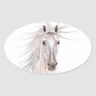 Spirit of the Wind Horse -vintage- Oval Sticker