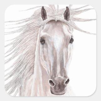 Spirit of the Wind Horse -vintage- Square Sticker