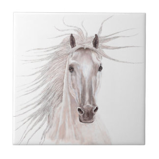 Spirit of the Wind Horse -vintage- Small Square Tile