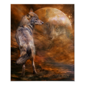 Spirit Of The Wolf Art Poster/Print Poster
