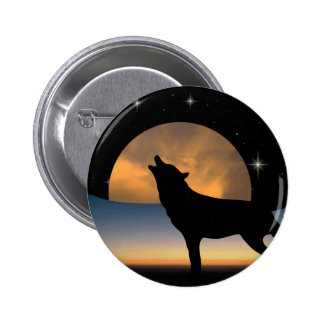 Spirit of the Wolf Pinback Button