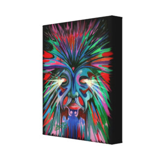 Spirit of the wolf stretched canvas prints