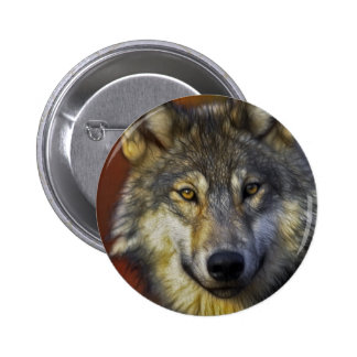 Spirit of the Wolf - Therian wolf photo gifts Pinback Buttons