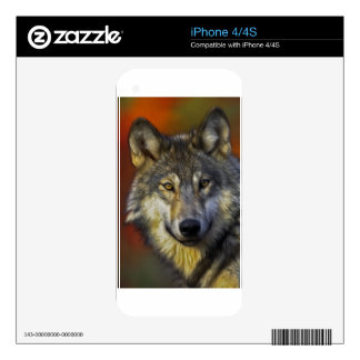 Spirit of the Wolf - Therian wolf photo gifts Decals For The iPhone 4