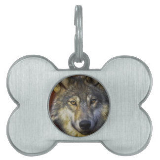 Spirit of the Wolf - Therian wolf photo gifts Pet ID Tag