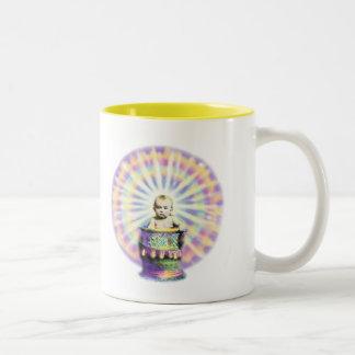 Spirit of Tye-Dye Baby Yellow Two-Tone Coffee Mug