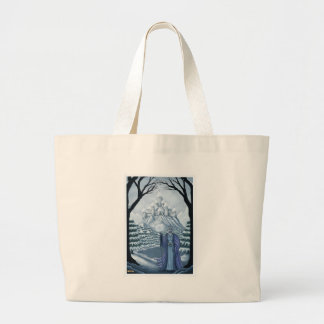 spirit of winter holiday large tote bag
