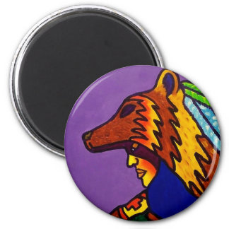 Spirit of Wolf 3 by Piliero 2 Inch Round Magnet